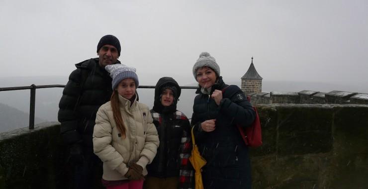 Регина, Саша, Джесика и Миша.