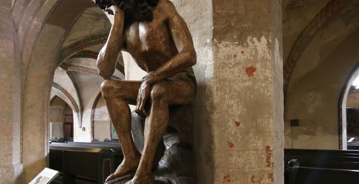 Деревянная фигура Христа. Церковь Святой Троицы. Герлиц.