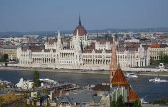 Здание венгерского парламента.