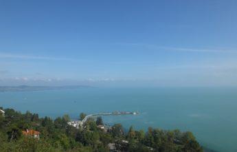 Вид на Балатон. Полуостров Тихань.