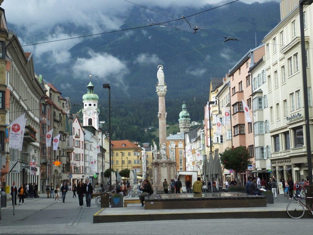 Мария Терезия штрассе. Инсбрук. Австрия. Тироль.